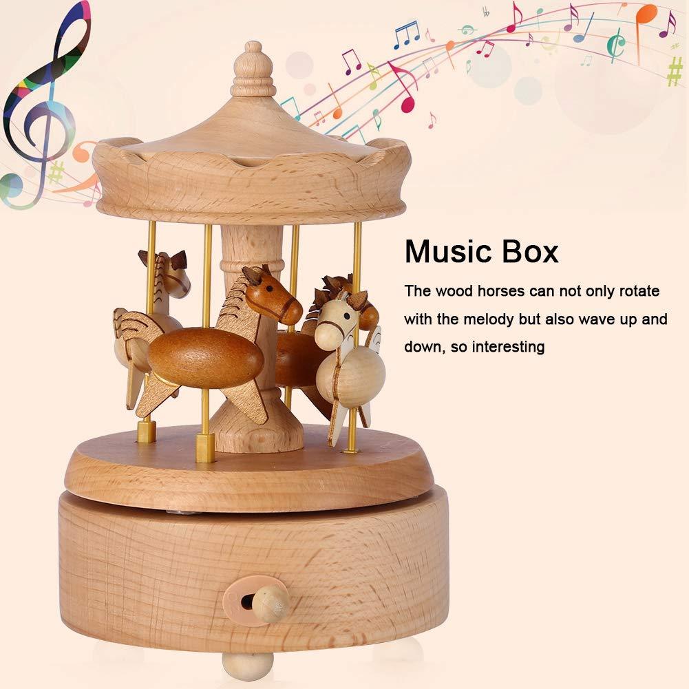 Duokon Bo/îte /à Musique Vintage en Bois de carrousel