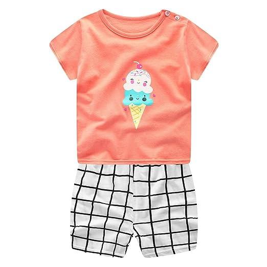 abdeb6fb9 Amazon.com  Toddler Baby Boys Girls 2PCs Clothes Short Sleeve ...