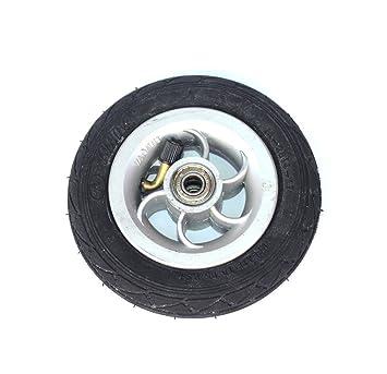 Rueda inflable de 5 pulgadas que usa el eje metálico 5 X 1 neumático con el vehículo eléctrico del tubo interno Rueda neumática de 5 pulgadas Rueda de ...