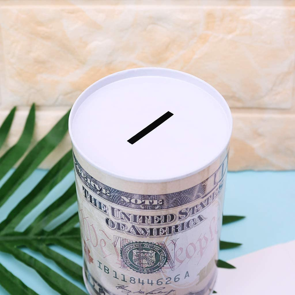 guangzhou Creative Euro Dollar Cylindre en M/étal Tirelire /Économie Tirelire D/écoration De La Maison