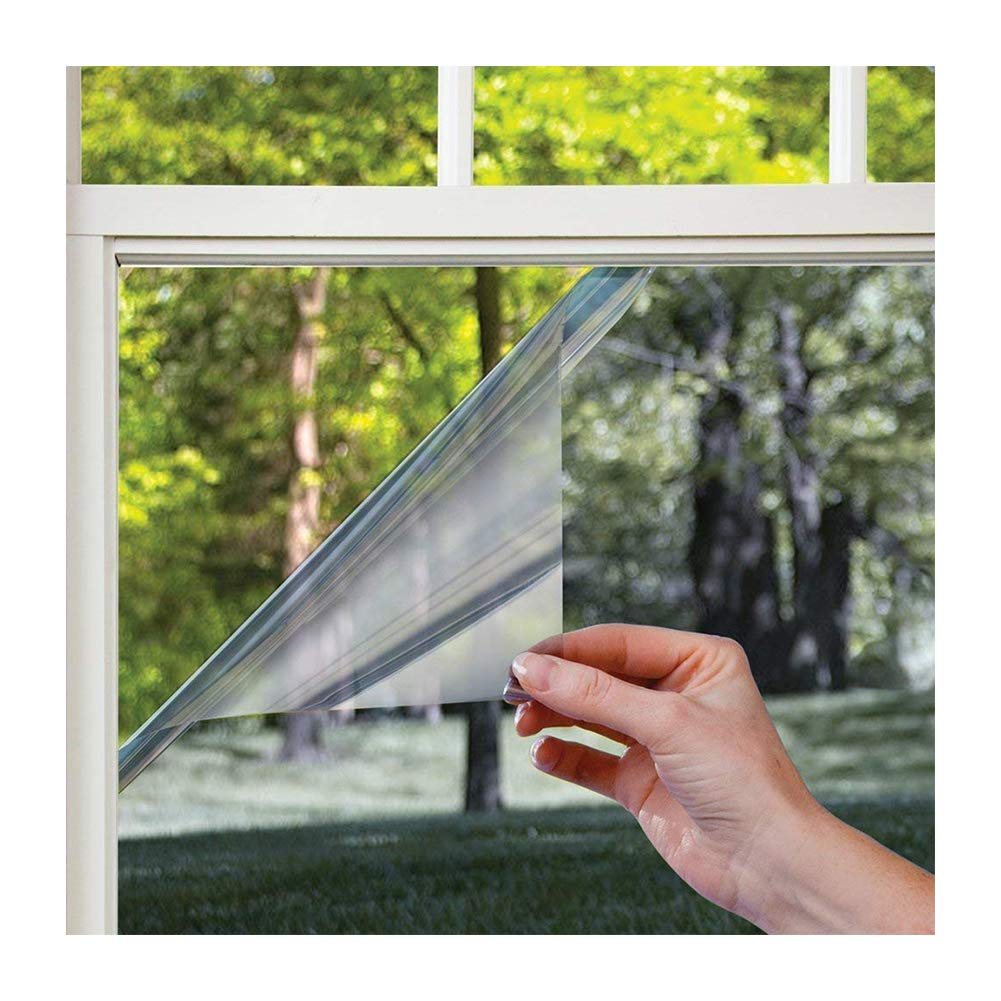 Xindinyi One Way Window Film,Reflective film Tint Removable Decorative Heat Control Privacy Glass Tint for Home and Office (23.6''x157.4'')