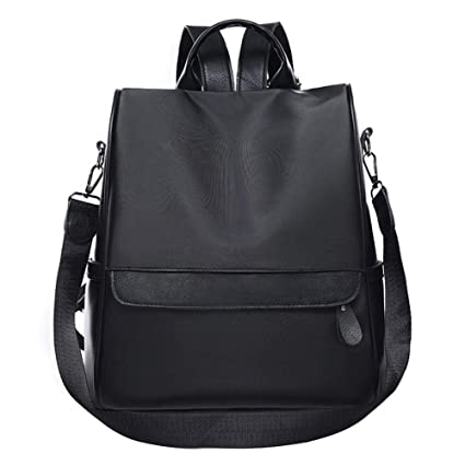 Image Unavailable. Image not available for. Color  Biback Women Literary  Multi-Function Backpack Casual Style Lightweight Waterproof Nylon School  Travel ... 9431b19fb0f5c