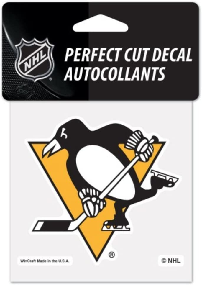 NHL Pittsburgh Penguins 4 x 4 inch Color Logo Decal