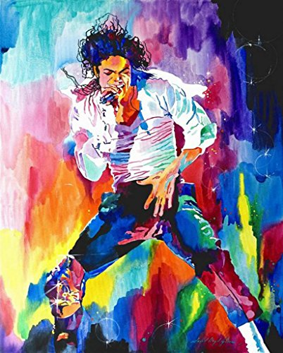 [Canvas Giclee Print Painting Michael Jackson Classic Dance, Unstretched and Unframed, Modern Home Decoration Wall Art,16 By] (Michael Jackson Decorations)