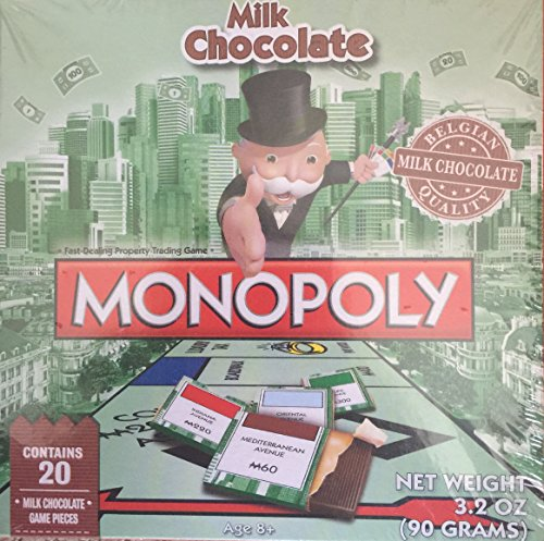 Monopoly Chocolate Edition of Hasbro Games Monopoly Belgian Chocolate, 3.2 Ounce