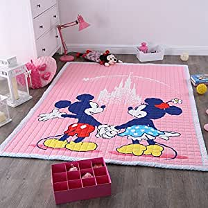 Amazon Com Disney Mickey And Minnie Mouse Pink Play Rug