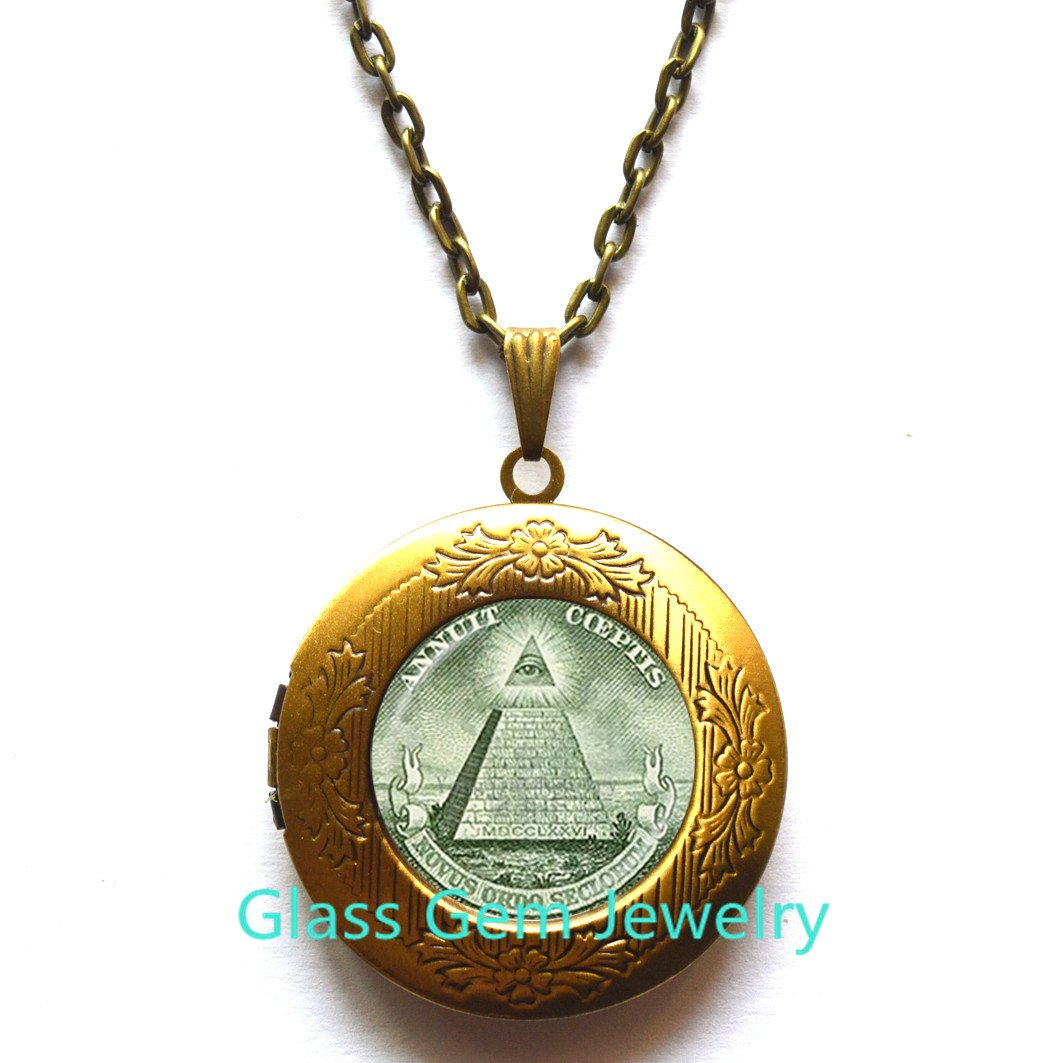 glass gem jewelry Annuit Coeptis Owl Pendant Egypt Pyramid Owl Necklace Eye of Providence Masonic Illuminati Masonic Sign Sacred Geometry Owl Necklace,Q0271