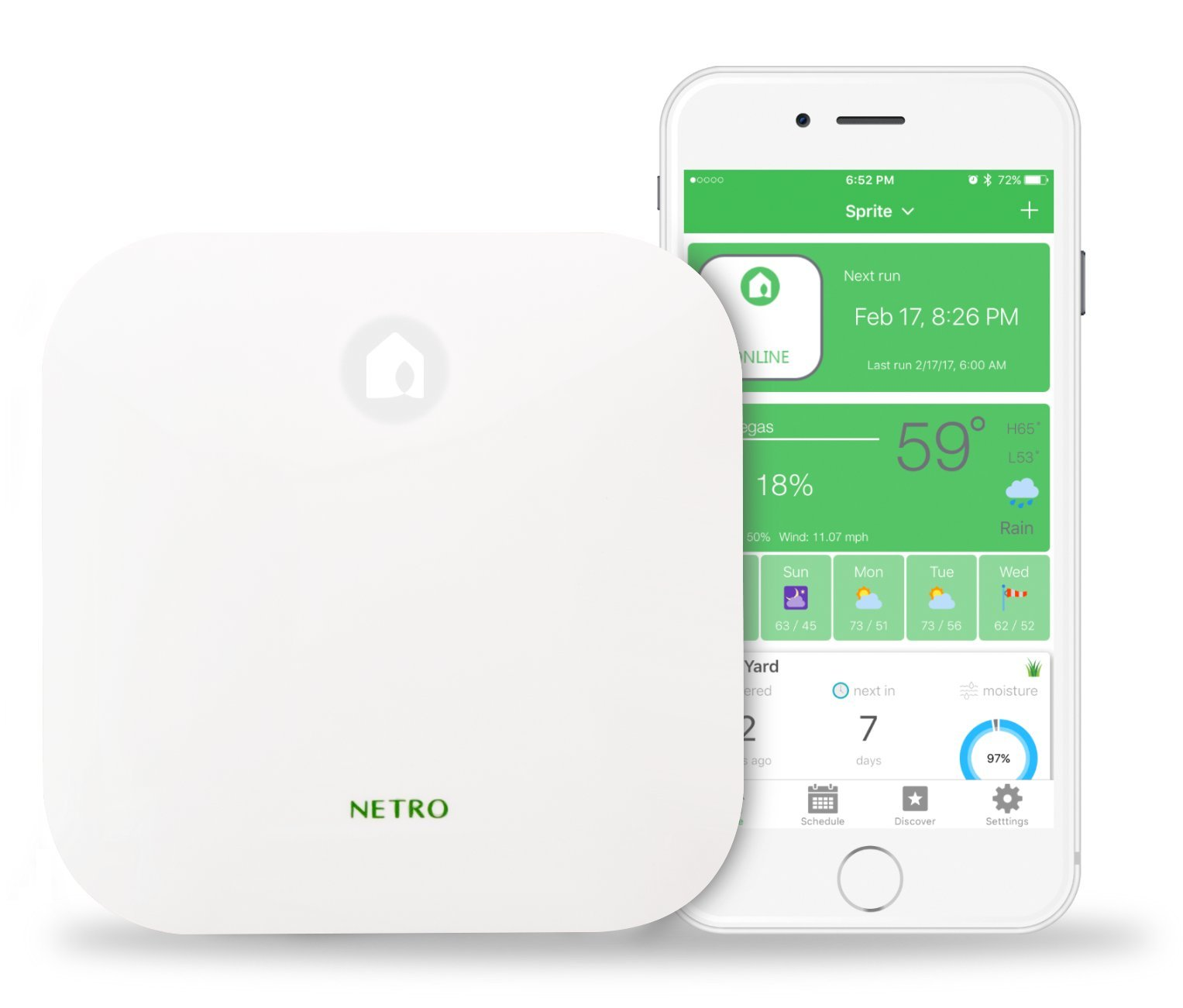 Netro Smart Sprinkler Controller, WiFi, Weather aware, Remote access, 12 Zone, Works with Amazon Alexa