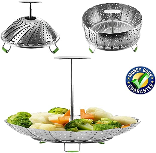 Steamer Cesta para cocinar al vapor (Instant Pot Accesorios 6 ...