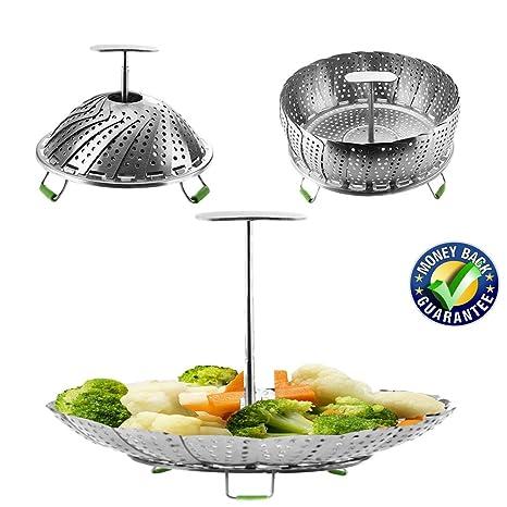 Amazon.com: Vaporizador de vegetales cesta cesta de verduras ...
