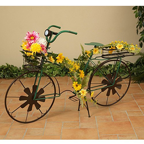 Gerson Company Solar 53 in. Metal Bicycle Plant Stand