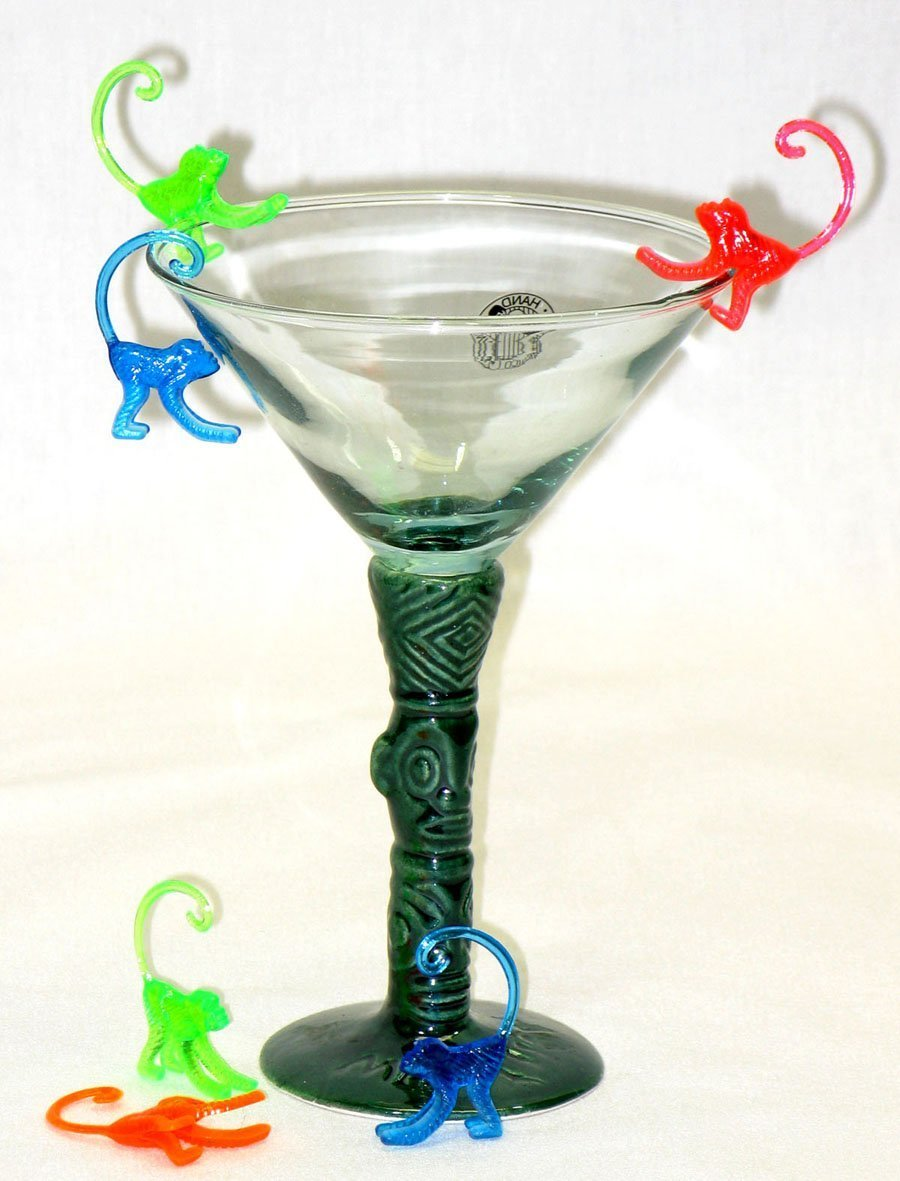 Case of 1,000 S319C Monkey Cocktail Picks Drink Markers