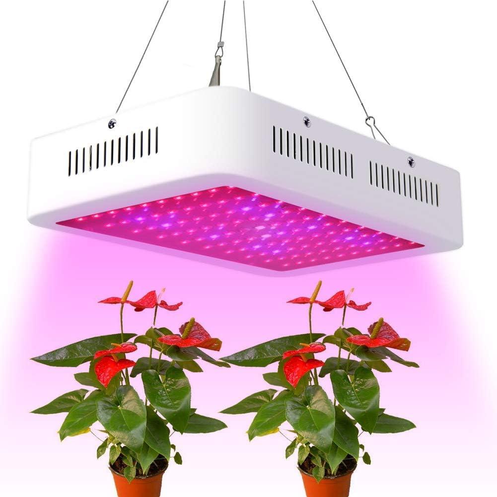 woobrit lámparas de crecimiento para plantas con un y dos huesos y de espectro completo, 1200 W 120perles, luz de llenado de las verduras de invernadero: Amazon.es: Iluminación