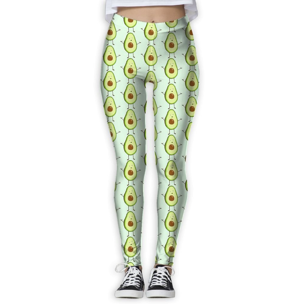 8e5f11df17e53 Amazon.com  LeYue Women s Cute Avocado Yoga Pants Performance Activewear  Workout Leggings Sports Pants Size(S-XL)  Sports   Outdoors