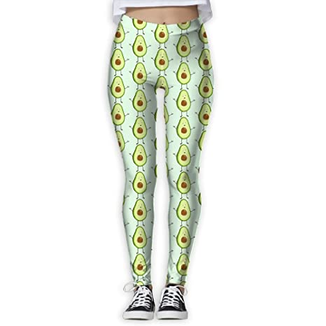 4d74dcdb91 Image Unavailable. Image not available for. Color: LeYue Women's Cute  Avocado Yoga Pants Performance ...