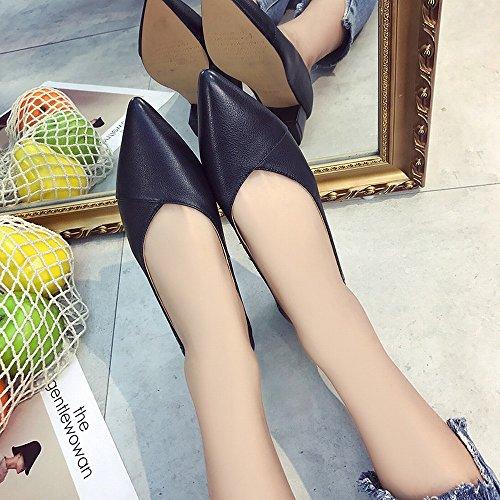 Scarpe Nero con Scarpe Lavoro Alto Tacco 37 Donna Tacco da da Pendolari Scarpe Alto DHG Joker da Donna a Col FqfdFUw