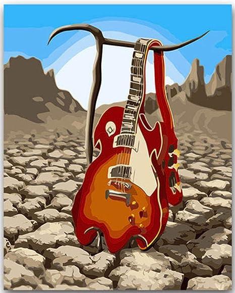 ygghj Pintura por Números Guitarra DIY para Colorear con Kits ...