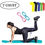 Celebrita MMA Booty Resistance Workout Bands & Mini Loops Exercise Butt Belts for Women - Set of 7 with Carry Bag and Exercise Guide