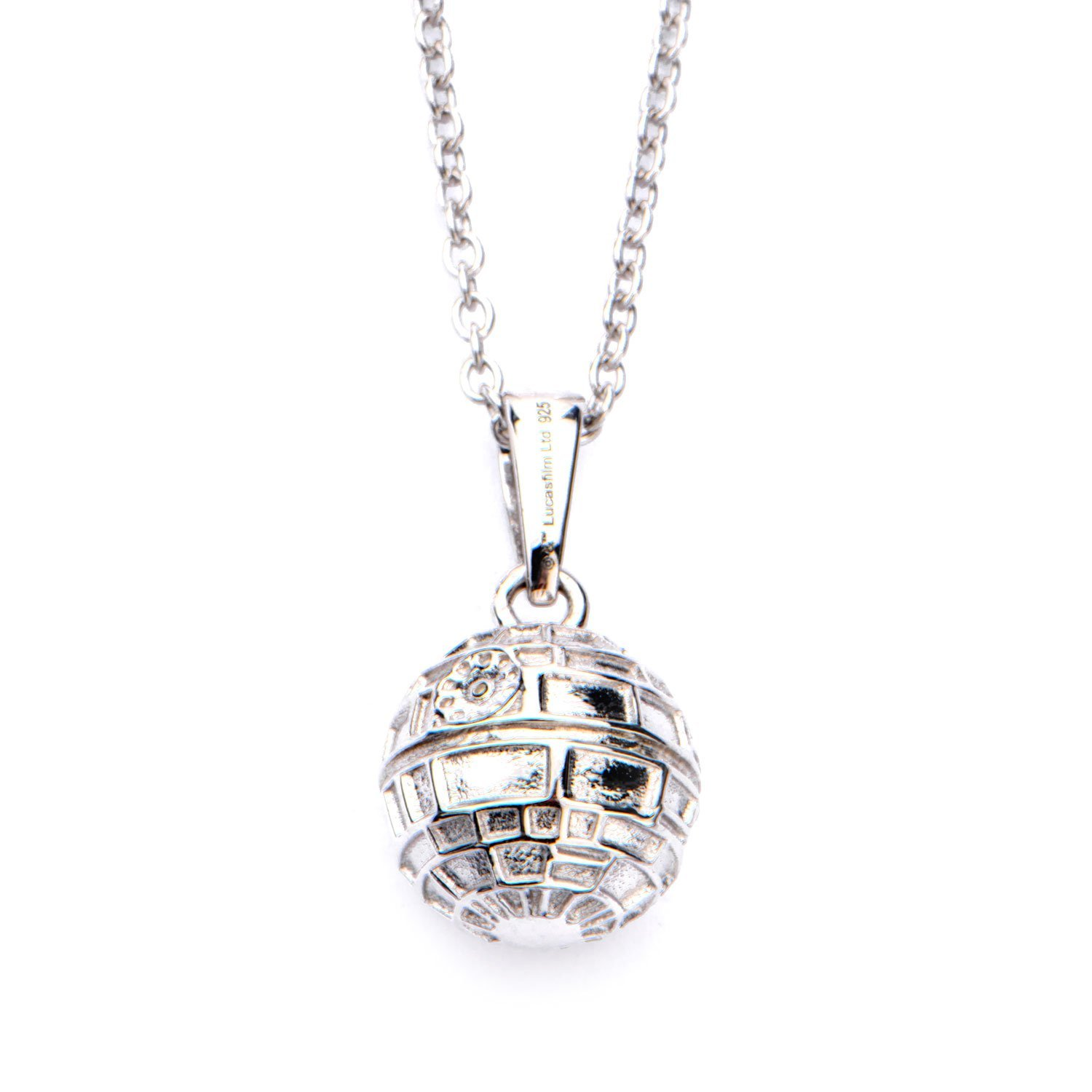 Star Wars Death Star 3D Sterling Silver Pendant Necklace