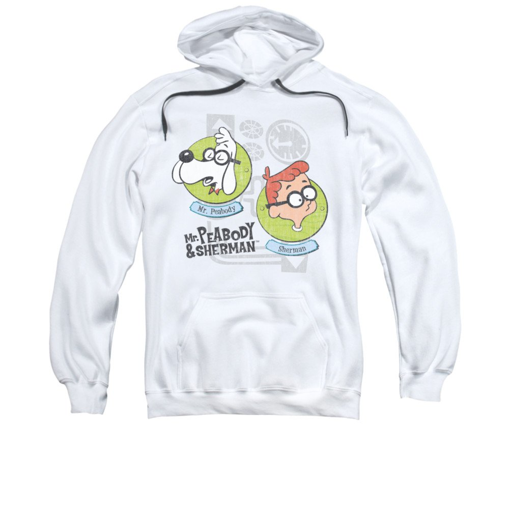2Bhip Mr. Peabody & sherman zeichen cartoon retro-gadgets hoodie für Herren