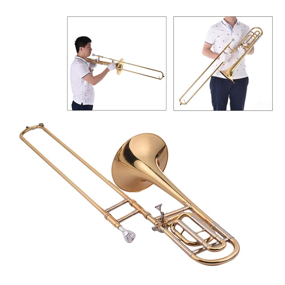 Festnight Trombone, Intermediate Bb Flat Tenor Slide Trombone with F Attachment Including Mouthpiece Carry Case by Festnight (Image #4)