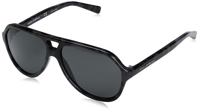 Dolce & Gabbana Stripes, Gafas de Sol para Hombre, Camo Grey ...