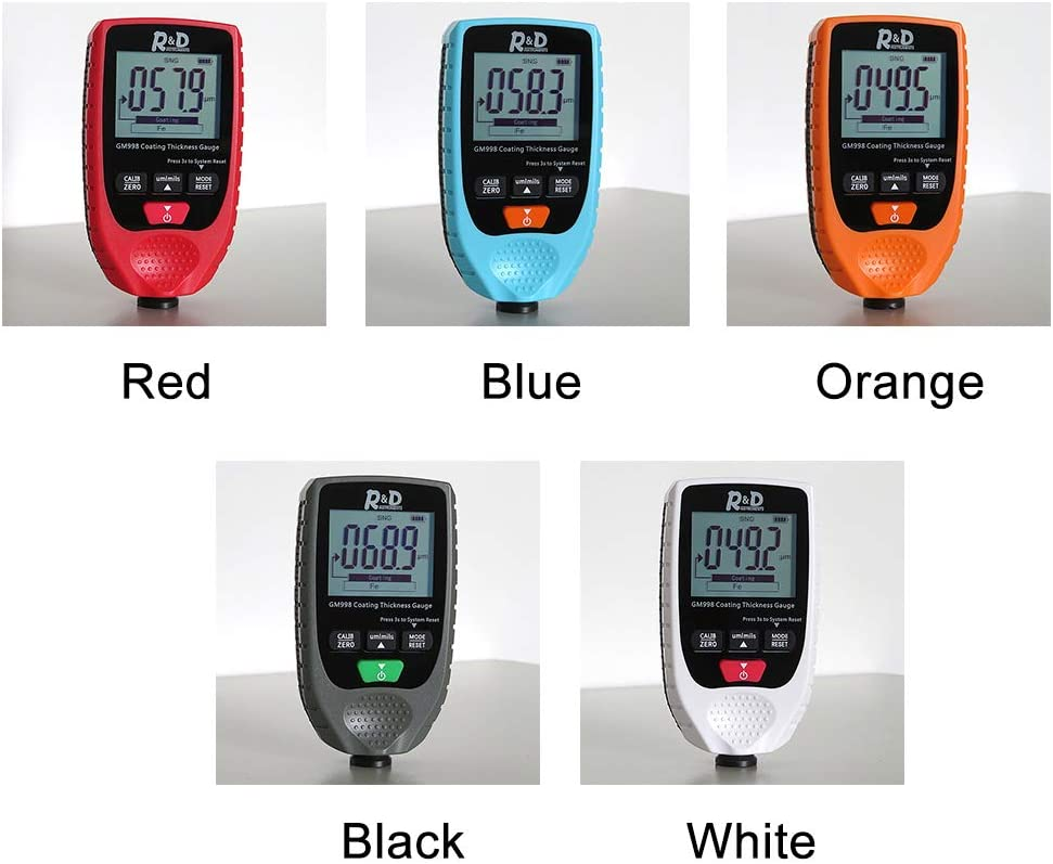 NAMYA Car Coating Paint Thickness Gauge Meter Handheld, with Backlight LCD Display for Both Steel and Aluminum Base Metal Car Blue
