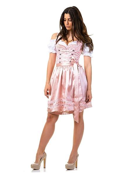 Trachtl.de Dirndl Trachtenkleid Damen Sarah IN SCHWARZ 3.TLG