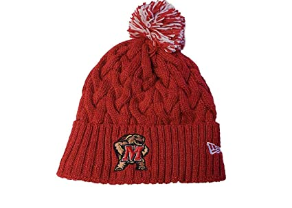 New Era Maryland Terrapins Womens NCAA Cozy Cable Knit Beanie - Team Color 0379825aaf85
