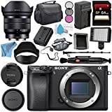 Sony Alpha a6300 Mirrorless Digital Camera (Black) ILCE6300/B + Sony E 10-18mm f/4 OSS Lens SEL1018 + NP-FW50 Replacement Lithium Ion Battery + External Rapid Charger Bundle