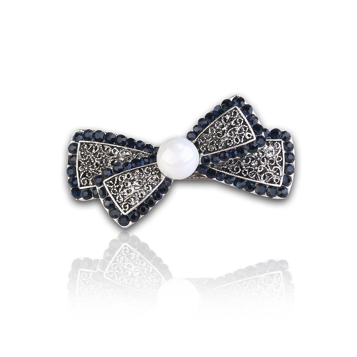 Amazon Com Pasador De Pelo Con Perlas Y Brillantes Para Coleta Beauty