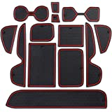 13 Pcs Accessories for Toyota RAV4 2019-2020, Cup Holder, Console Organiser, Door Pocket Insert Custom Liners, Black Red