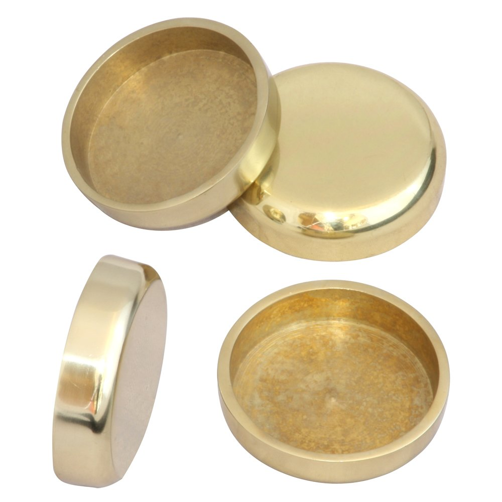 Brass Castor Cups 55mm by Ross Castors Pack of Four