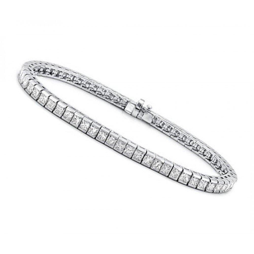 3.00 ct Ladies Princess Cut Diamond Tennis Bracelet In Channel Setting by Madina Jewelry (Image #3)