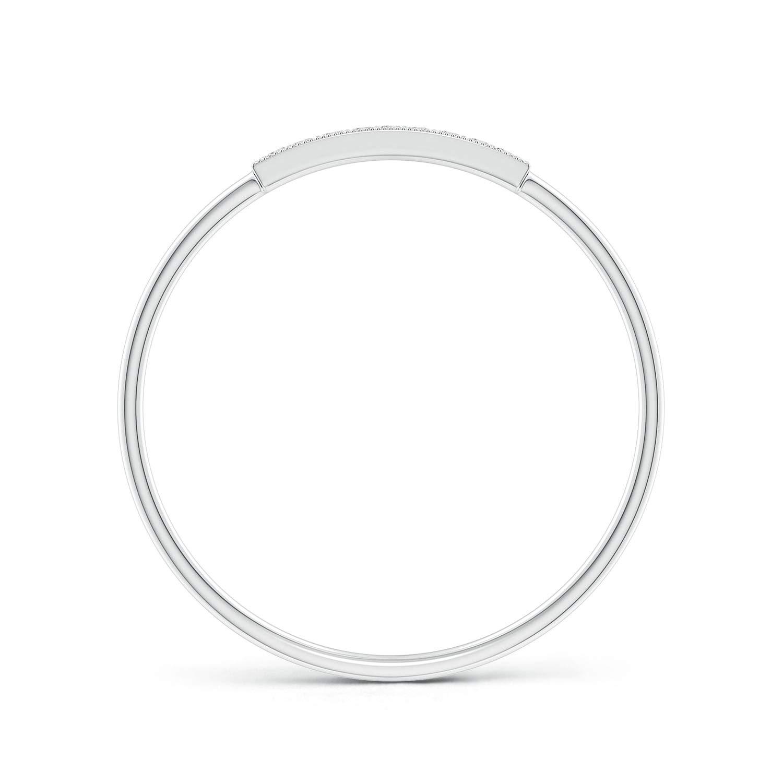 Pave Set Diamond Bar Ring with Milgrain 1mm Diamond