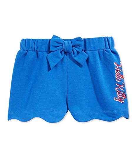 d6549a811 Hello Kitty Evy of California Girls Scalloped Casual Chino Shorts Blue 3T -  Toddler