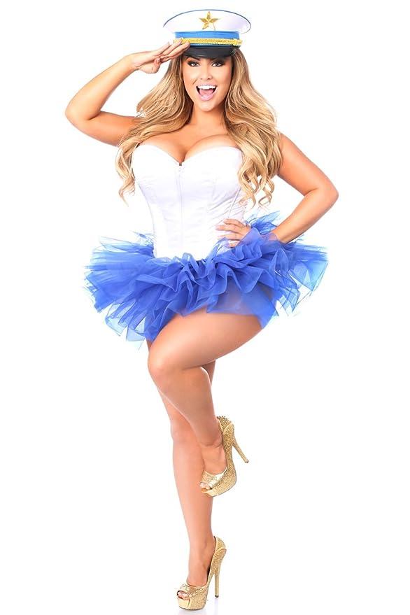 7e22e48c17f Daisy Corsets Women s Lavish Flirty Sailor Corset Costume  Amazon.co.uk   Clothing