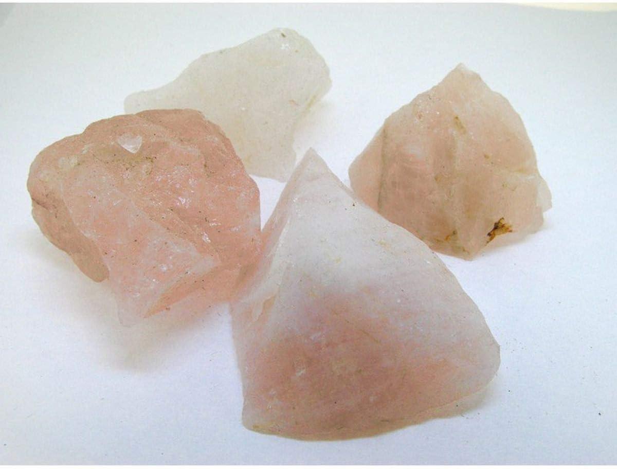 Piedras de Cuarzo Rosa Bruto Calidad A (Pack de 1 kg) Minerales y Cristales, Belleza energética, Meditacion, Amuletos Espirituales