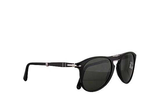 65c7ce1b7380c Persol PO9714S Sunglasses Black w Green Lens 55mm 9531 PO9714-S 9714S PO  9714-S  Amazon.co.uk  Clothing