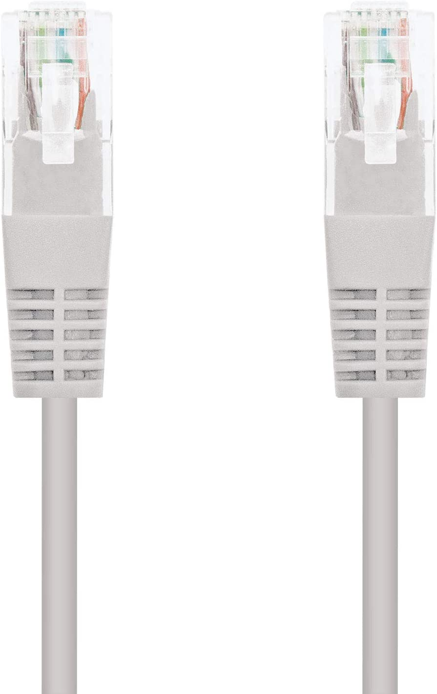 Libre de alogenos NanoCable 10.20.1615-OEM AWG24 Gris latiguillo de 15mts Cable de red Ethernet RJ45 LSZH Cat.5e UTP