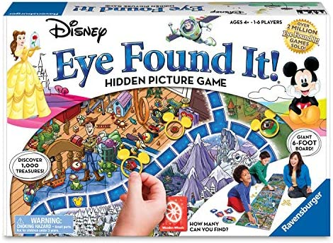 Ravensburger World of Disney Eye Found It Board Game for Boys and Girls Ages 4 and Up – A Fun Family Game You'll Want to Play Again and Again