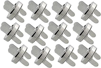 100 Sets 18mm Silver Tone Magnetic Buckle Bag Button Purse Snap Closure Purse