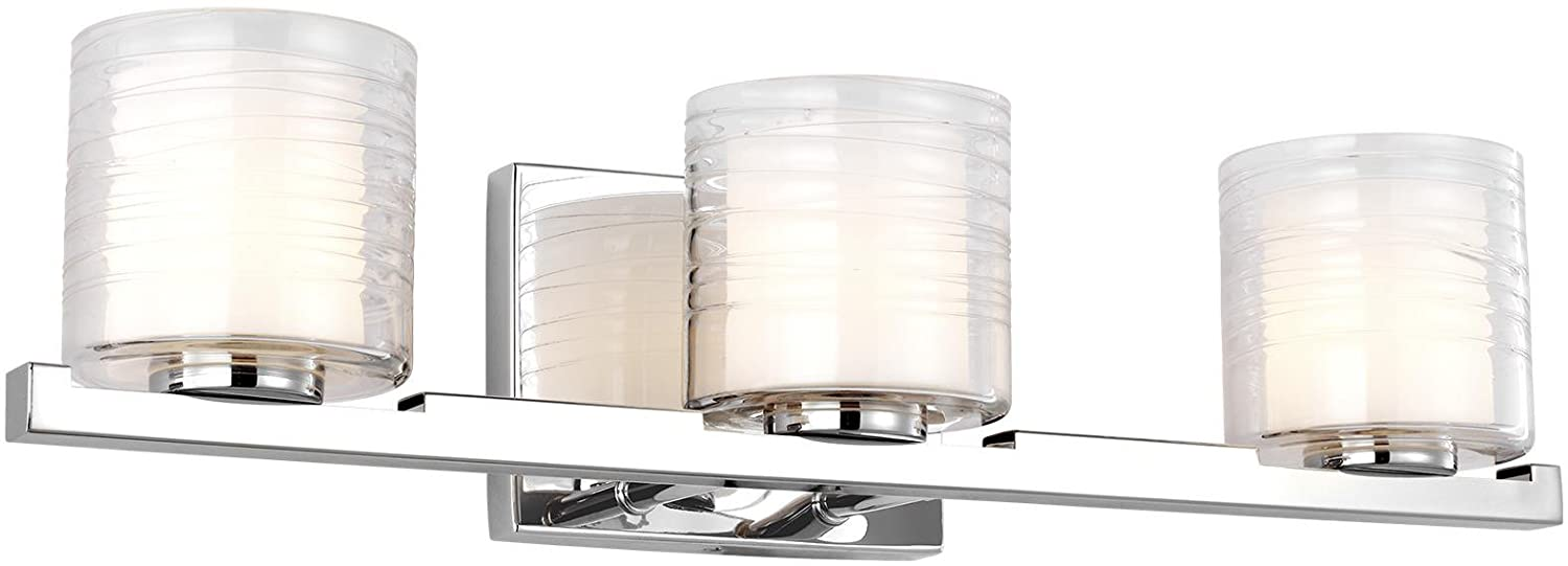 Feiss VS24203CH-L1 Contemporary Modern Three Light Vanity Fixture from Volo Collection in Chrome Finish, 3