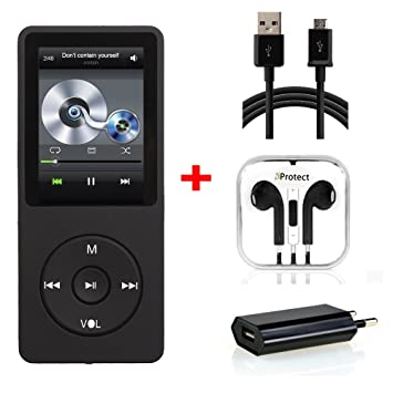 iProtect Reproductor de MP3 16GB con Auriculares Reproductor ...