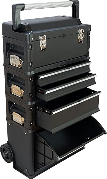 ASS Carrello porta attrezzi XL BLACK EDITON Tipo C1-B con il fermo cassetto e serratura