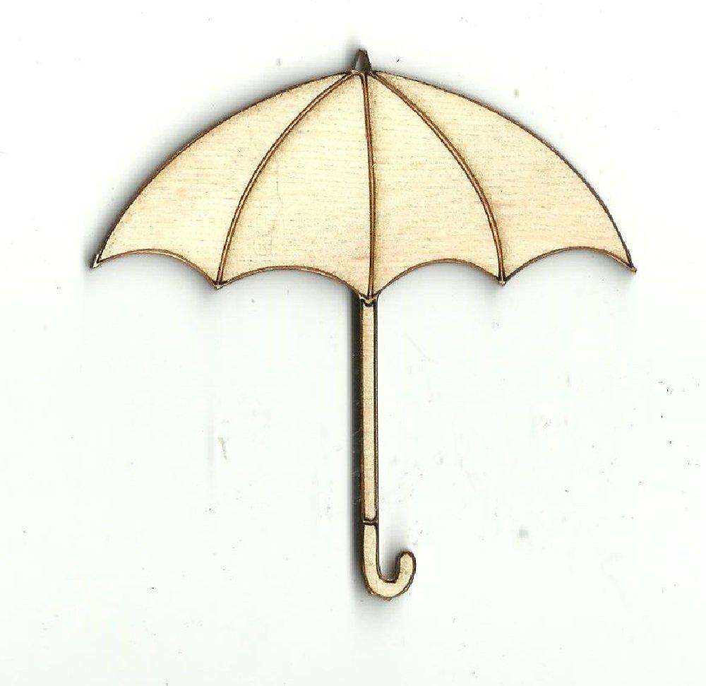 Laser Cut Wood Shape CLT10 Umbrella
