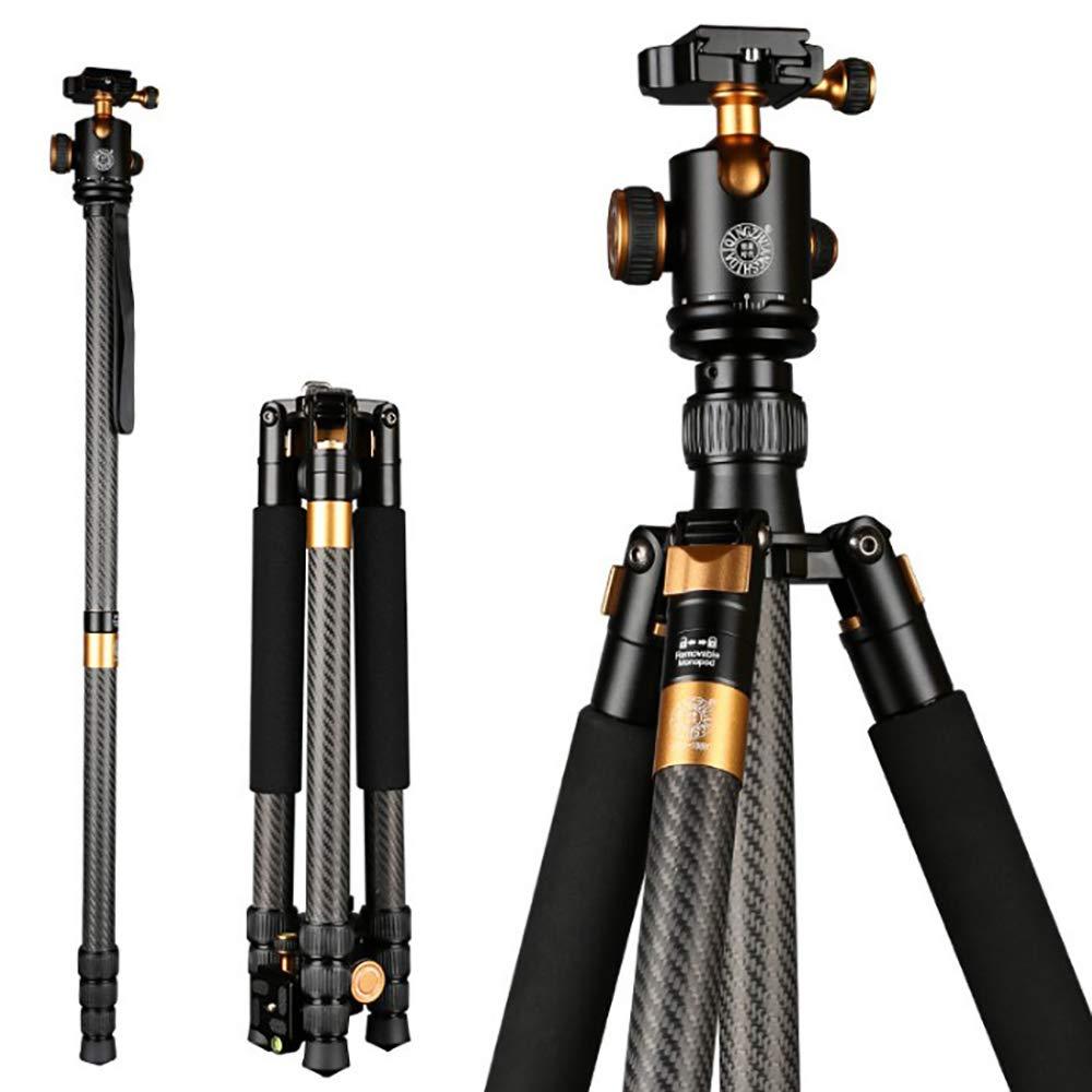 ★お求めやすく価格改定★ カメラの三脚、専門の SLR カーボン繊維の安定したカメラの三脚 B07QLC439Z、360度の球の頭部、運送袋が付いている取り外し可能な一脚 B07QLC439Z, 中区:8348bc52 --- martinemoeykens.com