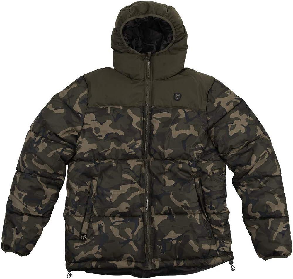 Angelbekleidung Angeljacke f/ür Karpfenangler Winterjacke f/ür Angler Gr/ö/ße:XXXL Fox Camo//Khaki RS Jacket