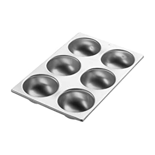 Wilton Ball Pan, 3D Aluminum Bakeware for Baking or Molding Delicious and Uniquely Shaped Treats, Makes 6 Half Balls