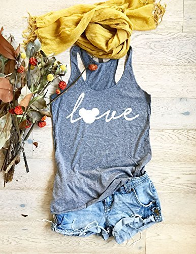 Disney Love. Hand Screen Printed With Earth Friendly Ink. Disney Inspired Tank Top. Hand Screen Printed With Ink. Women's Eco Tri-Blend Tanks. Women Clothing. Women's True To Size. Tank ()